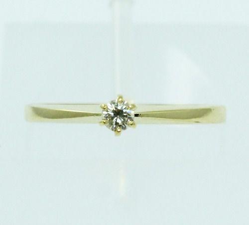 Anel De Ouro 18k750 Diamante 2216