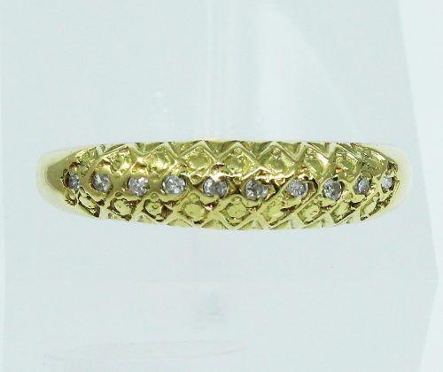 Anel De Ouro 18k750 Diamantes 2048