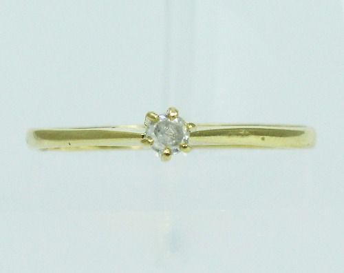 Anel De Ouro 18k750 Diamante 2047