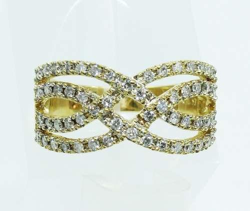 Anel De Ouro 18k750 Diamantes 2040