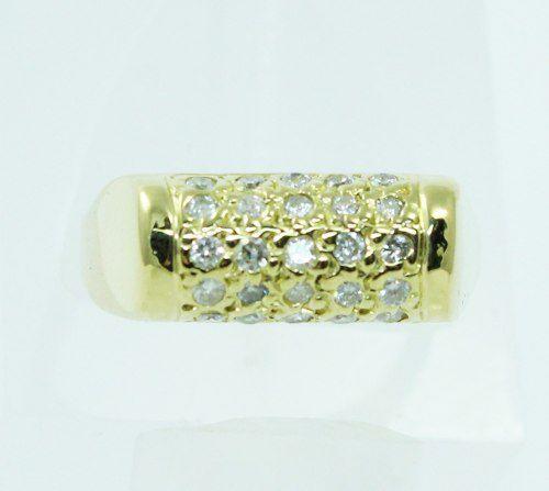 Anel De Ouro 18k750 Diamantes 2035
