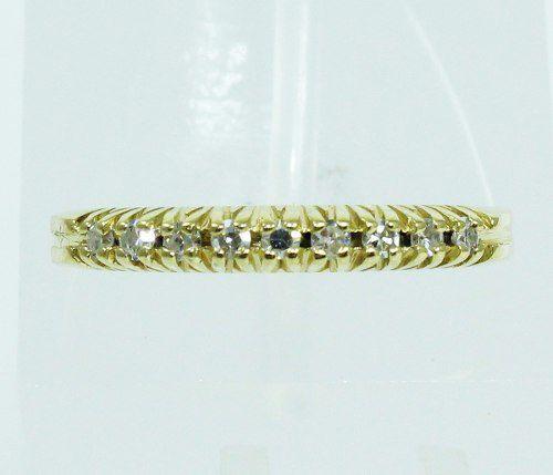 Anel De Ouro 18k750 Diamantes 2034