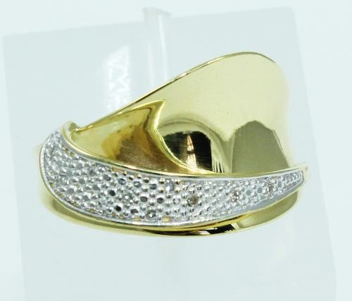 Anel De Ouro 18k750 Diamantes 2009