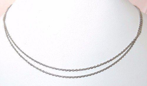 Corrente De Ouro Branco 18k750 Vivara C135