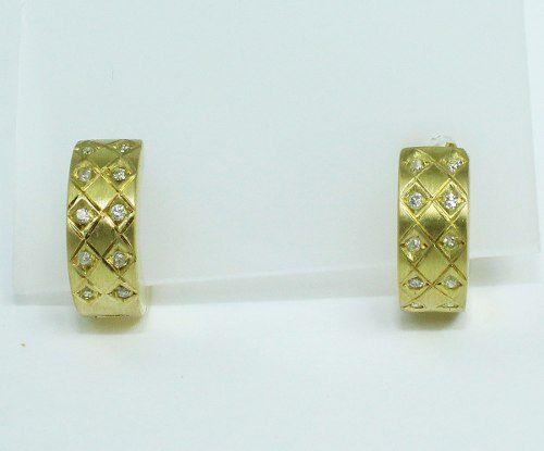 Brincos De Ouro 18k750 Diamantes B748
