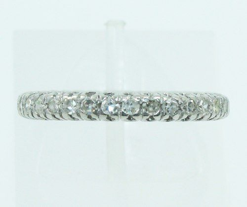 Anel Aliança Ouro Branco 18k750 Diamantes 2209