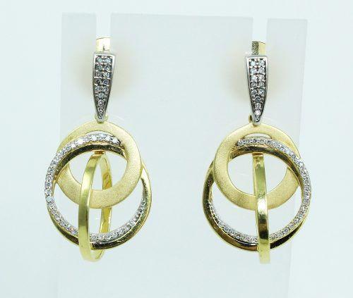 Brincos De Ouro 18k750 Diamantes B737