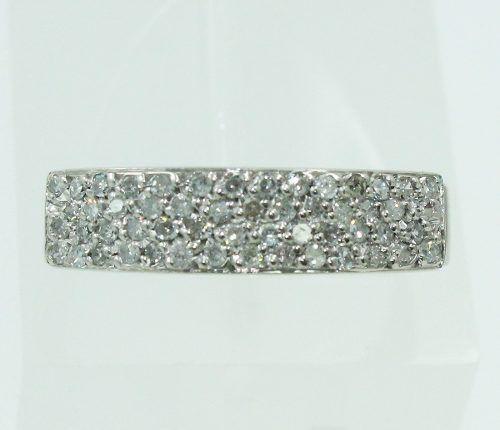 Anel De Ouro Branco 18k750 Diamantes 2205