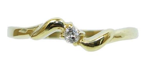 Anel De Ouro 18k750 Diamante 12x S/j Ft/gt 2566