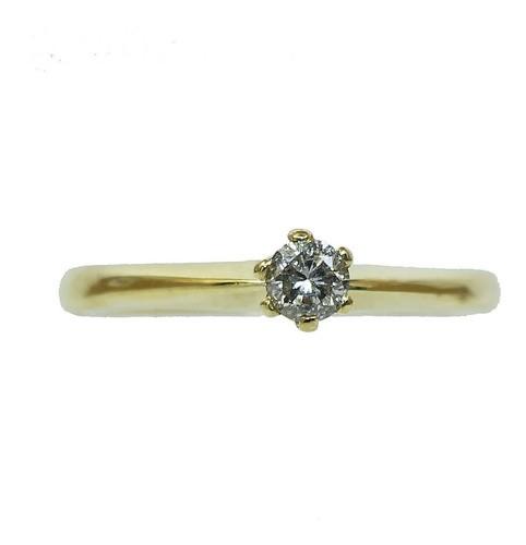 Anel De Ouro 18k750 Diamante 12x S/j Ft/gt 2765