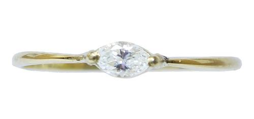 Anel De Ouro 18k750 Diamante 2938