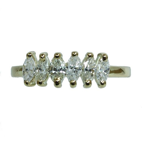Anel De Ouro 18k750 Diamantes 12x S/j Ft/gt 2682
