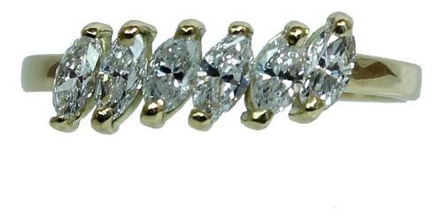 Anel De Ouro 18k750 Diamantes 12x S/j Ft/gt 2683