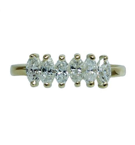 Anel De Ouro 18k750 Diamantes 12x S/j Ft/gt 2684