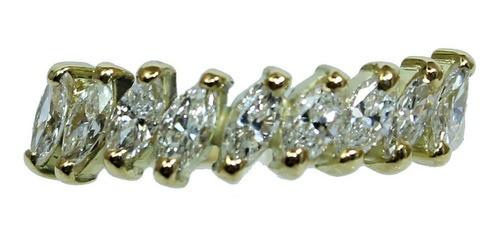 Anel De Ouro 18k750 Diamantes 12x S/j Ft/gt 2686