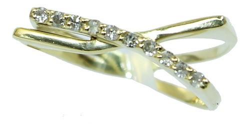 Anel De Ouro 18k750 Diamantes 12x S/j Ft/gt 2690