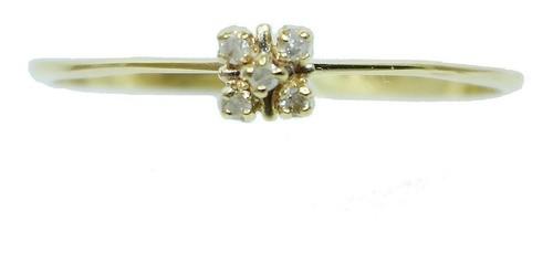 Anel De Ouro 18k750 Diamantes 12x S/j Ft/gt 2700