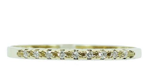 Anel De Ouro 18k750 Diamantes 12x S/j Ft/gt 2701