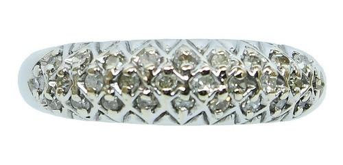 Anel De Ouro 18k750 Diamantes 12x S/j Ft/gt 2705