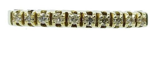 Anel De Ouro 18k750 Diamantes 12x S/j Ft/gt 2722