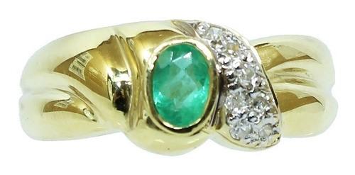 Anel De Ouro 18k750 Diamantes 12x S/j Ft/gt 2743