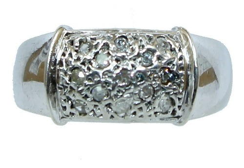 Anel De Ouro 18k750 Diamantes 12x S/j Ft/gt 2759