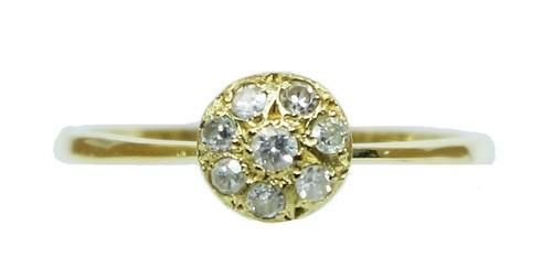 Anel De Ouro 18k750 Diamantes 12x S/j Ft/gt 2761