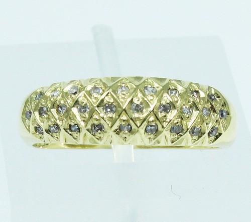 Anel De Ouro 18k750 Diamantes 1741