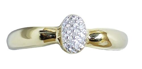 Anel De Ouro 18k750 Diamantes 2950