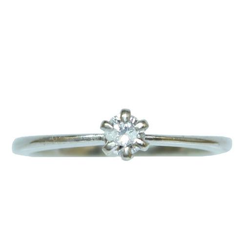 Anel De Ouro 18k 750 Diamante 2836