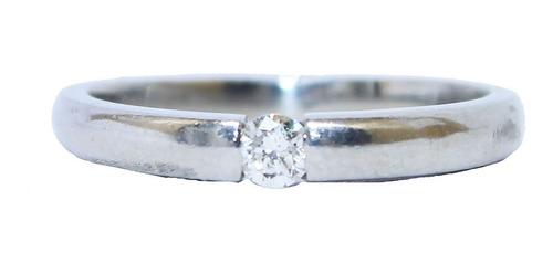 Anel De Ouro 18k 750 Diamante 2930