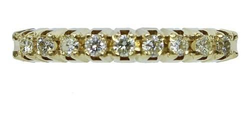 Anel De Ouro 18k 750 Diamantes 2801