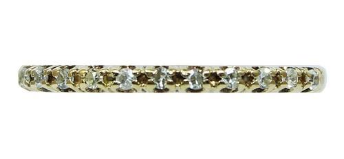 Anel De Ouro 18k 750 Diamantes 2811