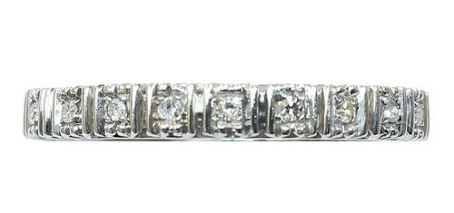 Anel De Ouro 18k 750 Diamantes Inteiro 2831