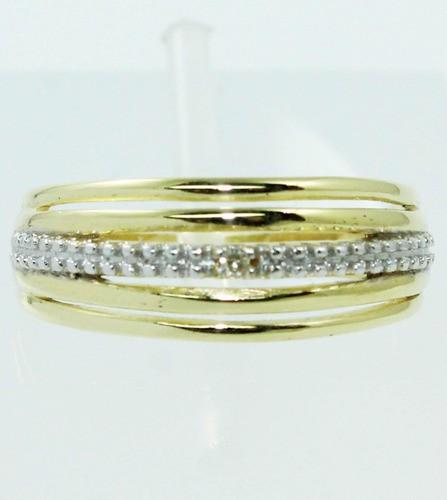 Anel Ouro 18k Diamantes Vivara 12x S/j Ft/gt 504