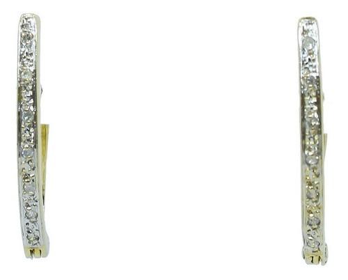 Brinco De Ouro 18k750 Diamantes 12x Sj Ft/gt B916