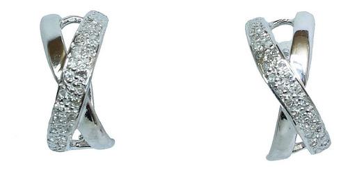 Brinco De Ouro 18k750 Diamantes B947