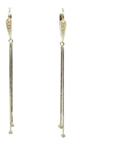 Brinco De Ouro 18k750 Diamantes B964