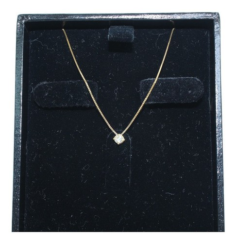 Colar De Ouro 18k750 Diamante 12x S/j Ft/gt C372