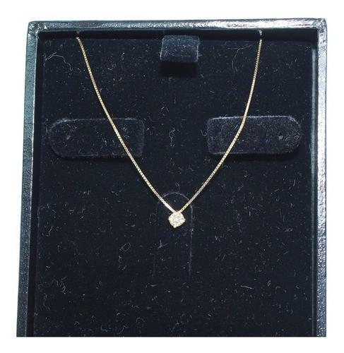 Colar De Ouro 18k750 Diamante 12x S/j Ft/gt C375