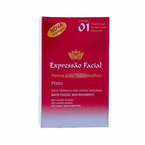Kit Henna Sobrancelha Expressão Facial Preto