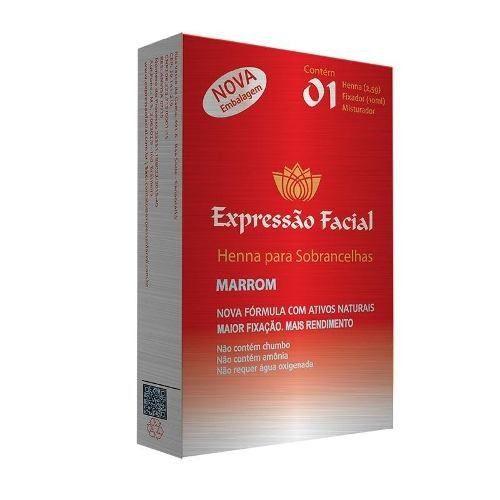 Henna Expressão Facial Marrom 2,5g