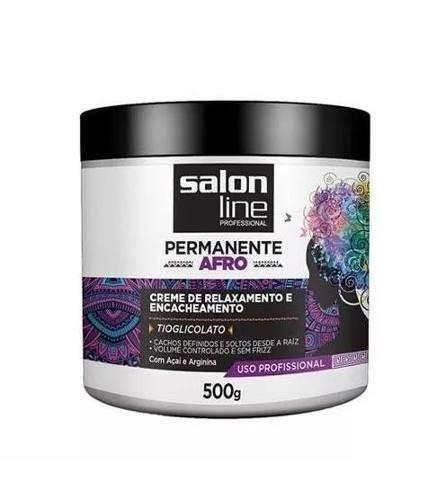 Creme Relaxante E Encacheamento Afro Salon Line 500g
