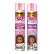 Shampoo + Cond S.o.s Cachos Kids Salon Line 300ml