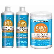 Shampoo E Cond 500ml +creme Pentear 1kg Nutri Oleos Keraform