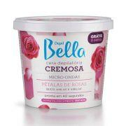 Cera Depil Bella Cremosa Para Microondas Pétalas De Rosas 100g