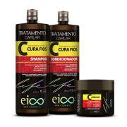 Combo Shampoo, Condicionador e Máscara Cura Fios 1l - Eico
