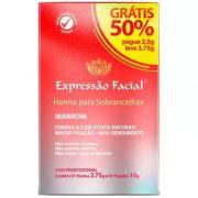 Henna Para Sobrancelhas Marrom 2,5g - Expressão Facial