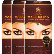 Henna Sobrancelhas Marroquina 2.0 Preto 2.5g kit c/3
