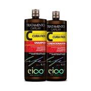 Kit Eico life Cura Fios Shampoo + Condicionador